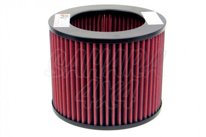 Filtro K&N Air Filter para reemplazo Toyota 4-runner 3.0 Diesel(93-97) - K&N E-9270: Alto 15.1 cm x diametro interior 12.1 cm x diametro exterior 16.7 cm.