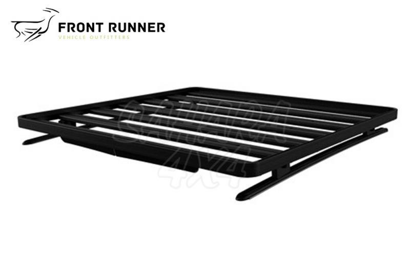 Baca Aluminio Front Runner Isuzu D-Max DC - Medidas: 1358mm x 1165mm. El Kit Incluye: (2) Guias, (4) Pies para Guias y (1) Deflector de Viento.