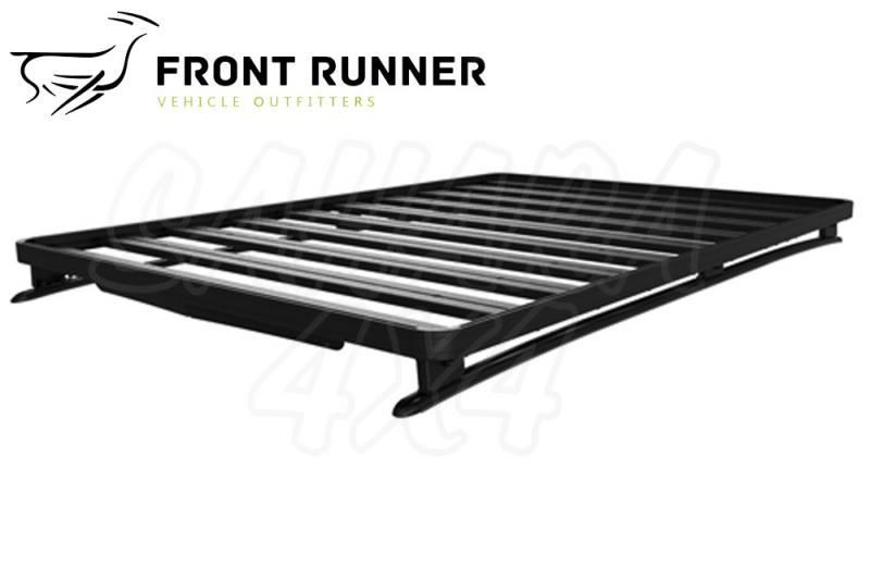 Baca Aluminio Front Runner Mitsubihi Montero Sport -  Medidas: 1165mm (ancho) x 1964mm (largo). El Kit Incluye: (2) Guias, (6) Pies para Montaje de la Baca y (1) Deflector de Viento.