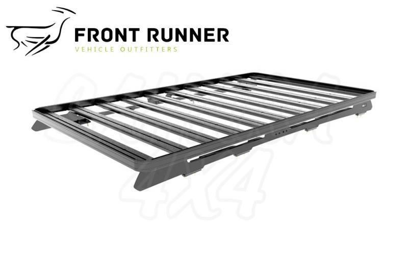 Baca Aluminio Front Runner Slimline II Toyota HDJ 200 (2166mm) - Medidas: 2166mm (largo). El Kit consta de: (2) Railes con pies para el montaje de la Baca y (1) Deflector de Viento.