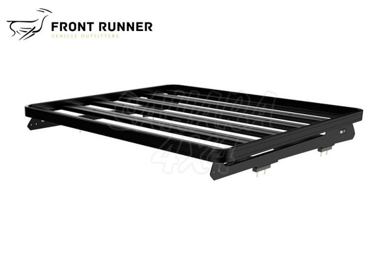 Baca Aluminio Slimline II Front Runner 1/2 Toyota 150 (1156mm) - Medidas: 1156mm (largo). El Kit consta de: (2) Railes con pies para el montaje de la Baca y (1) Deflector de Viento.