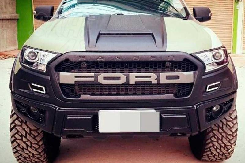 Calandra delantera Tipo Raptor para Ford Ranger PX2 desde 2016 - Fabricado en plastico ,