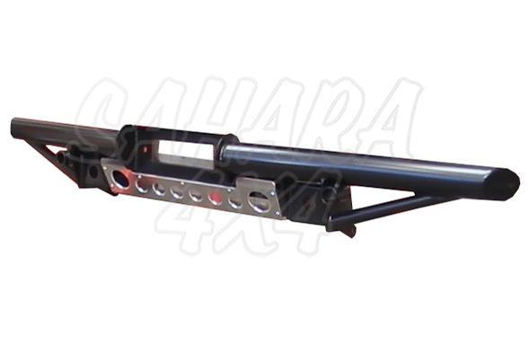 Paragolpes Delantero Tubular con soporte winch Land Rover Defender  - Con soporte de winch, tubo 76 mm, 2 soportes para la elevacion