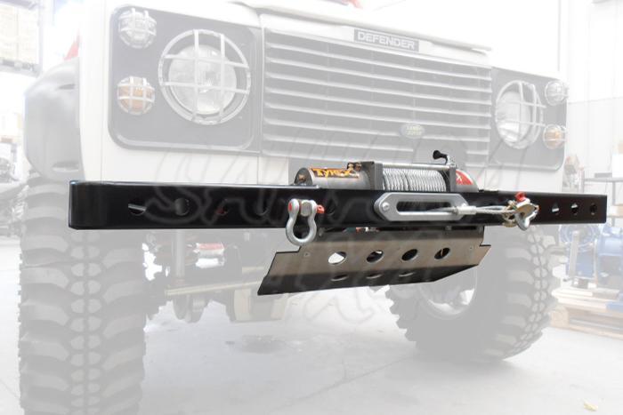 Paragolpes Delantero HD con soporte winch Land Rover Defender  - Con soporte de winch, ganchos no incluidos