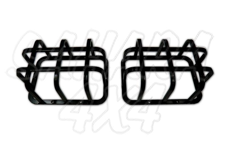 Kit 2 protecciones para faros traseros rectangularess Defender  (marcha atras & antiniebla) - Fabricado en Acero