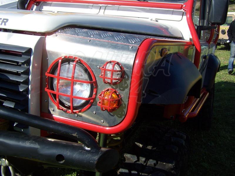 Aletas delanteras tubulares para land rover Defender