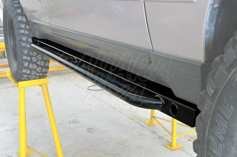 Rock Slider Laterales reforzados con tubo para Range Rover P38 - En tubo de 80x50 mm