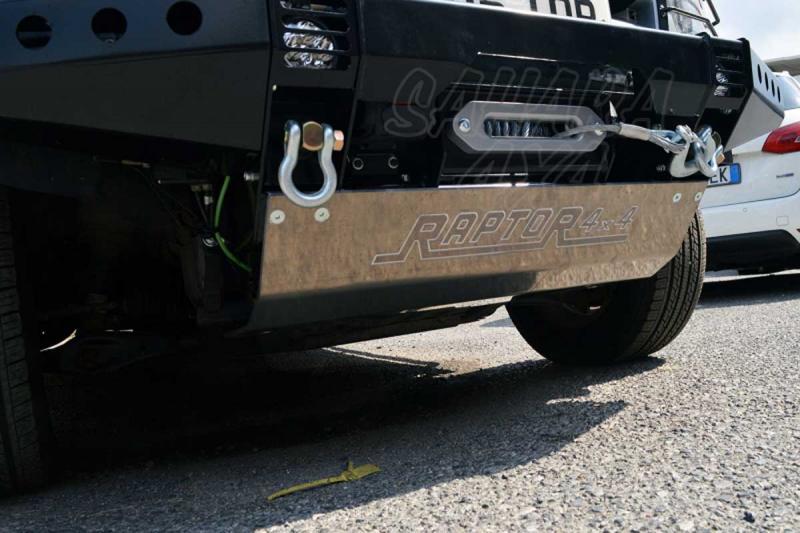 Protector barras de direccion para paragolpes delantero , Land Rover Discovery III - Fabricado en Aluminio 10 mm