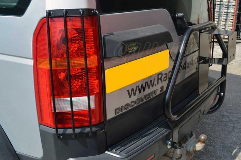 Protectores de faros traseros Land Rover Discovery III - Pareja , fabricado en acero