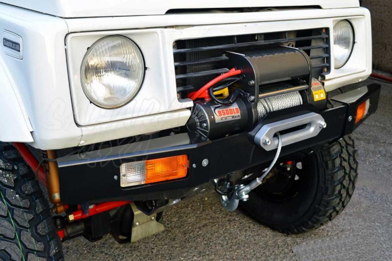 Paragolpes delantero Samurai - Con soporte de winch , fabricado en aluminio