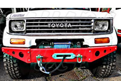 Paragolpes delantero con soporte de winch Toyota LJ/KZJ 70 - Fabricado en aluminio