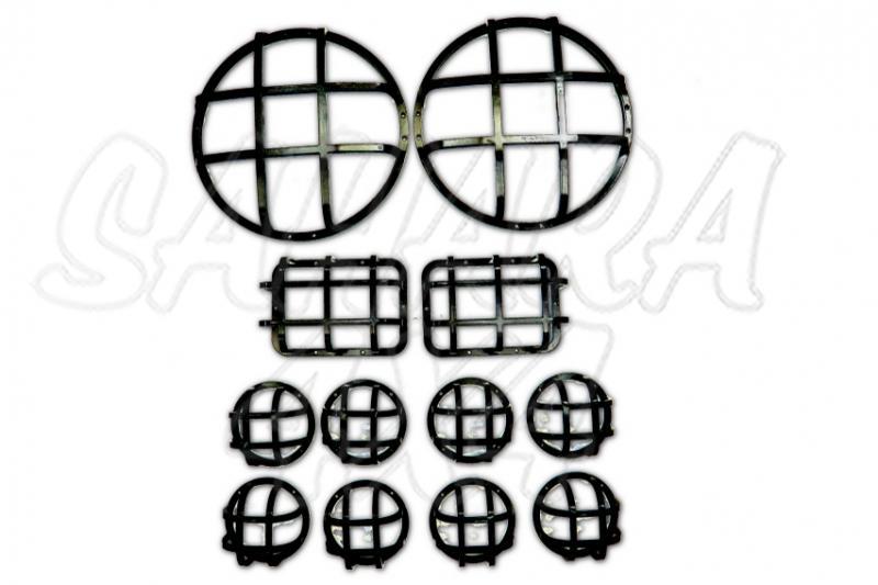 Kit protecciones de faros Defender ( 12 piezas ) - Fabricado en Acero