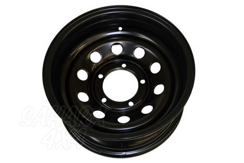 Llanta Acero Negro 10x16 ET-44  6x139.7 , Toyota , Nissan , Mitsubishi - Medida Disponible: 10x16 ET-44 6x139.7