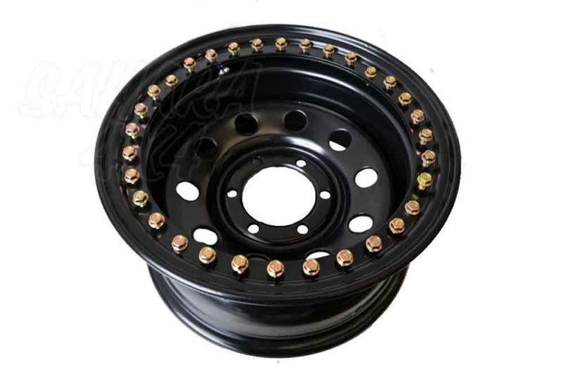 Steel Black Wheel Bead Loc  8x16 ET-35  6x139.7 , Toyota , Nissan , Mitsubishi - Size available: 8x16 ET-35 6x139.7