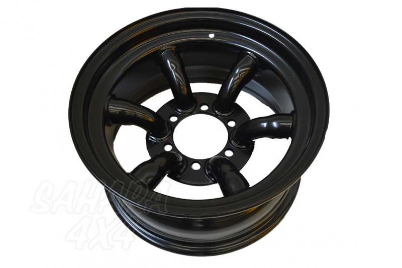 Llanta Acero Negro Tipo Xtreme Trial 8x16 ET-35  6x139.7 , Toyota , Nissan , Mitsubishi - Medida Disponible: 8x16 ET-35 6x139.7