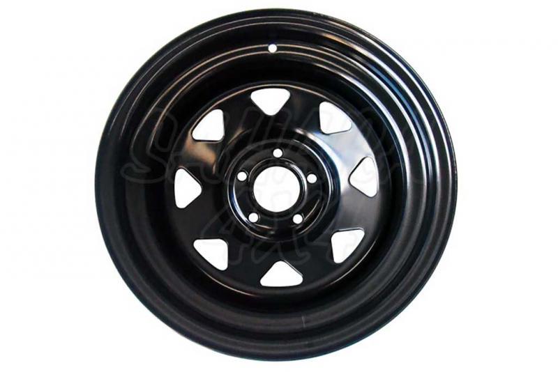 Llanta Acero Negro 7x15 5x114,3 ET-10 84 Buje - 7x15 5x114,3 ET-10 +9,89cm