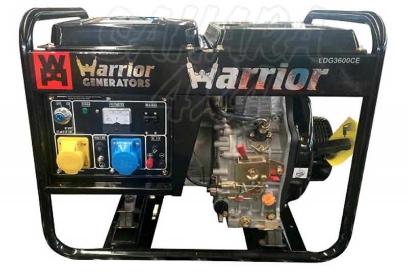 3 Kva Generador Diesel  - Equipado con el control automático de voltaje (AVR) que protege la unidad y proporciona una mayor eficiência y un tiempo de trabajo total de 16H con el deposito lleno. Equipado con cargador de batería de 12V y tomas de salida, 240V
