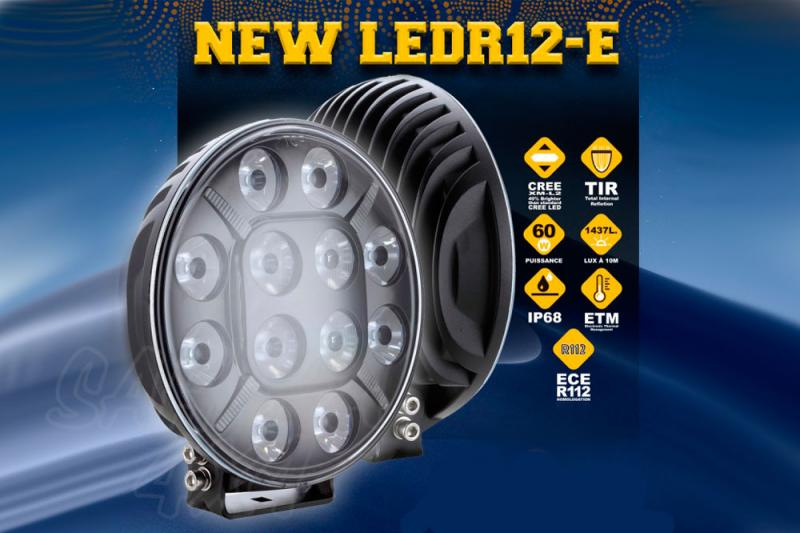 Faro LED Larga distancia (spot) 12 Led 18 cm 60 W / 5400 LM