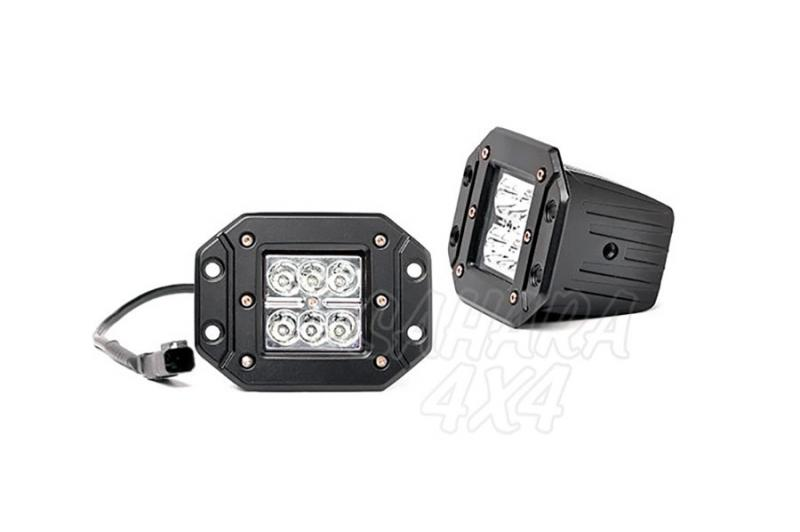 Faros de Led Cuadrados para empotrar Rough Country (Pareja)