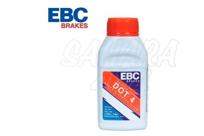 Líquido de Frenos EBC Standard - Bote 250ml, DOT 4 - Ebullición 260º