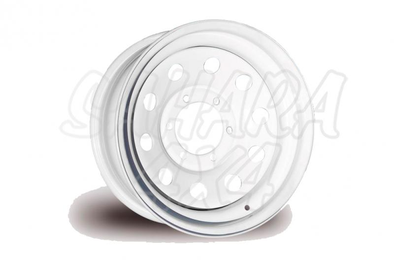 Llanta Acero Blanco Toyota Land Cruiser BJ40 - Four Wheeler. Medidas disponibles: 10x15 7x16 8x16