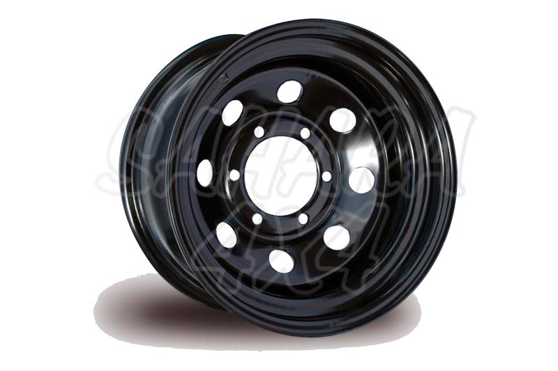 Llanta Acero Negro Land Rover Freelander I - Four Wheeler. Medidas disponibles: 7x16