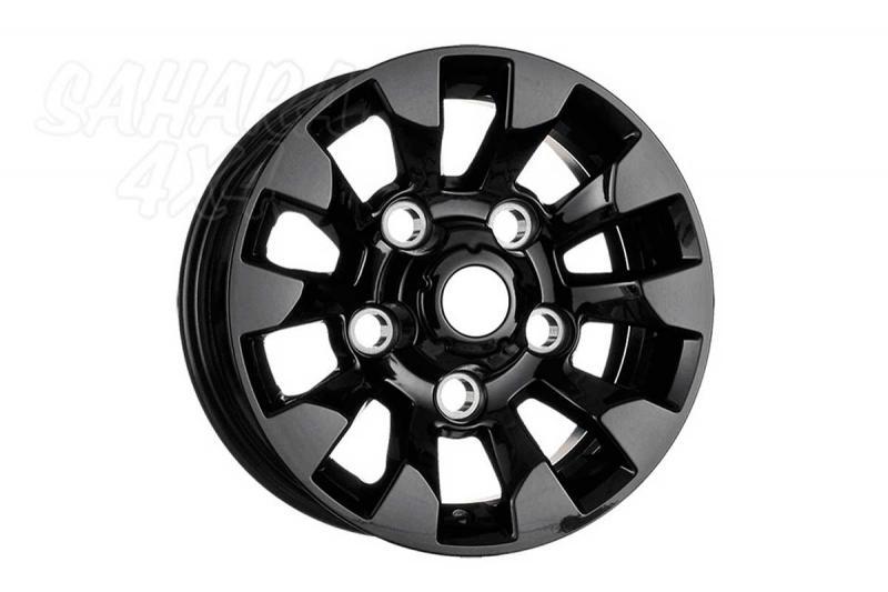 Llanta Aluminio Sawtooth para Defender 7x16 (color negro) - Validas para Defender