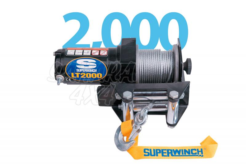 Superwinch LT2000 ATV 907Kg  - Cabrestante electrico a 12v.
