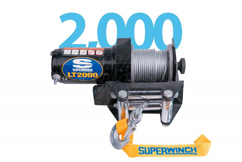 Superwinch LT2000 ECO 907Kg  - Cabrestante electrico a 12v.
