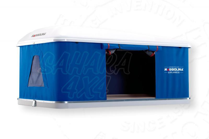 Tienda de techo Maggiolina Airlander Mediana (Azul) - Medidas: 1.45mts x 2.10mts, recomendada para 2 adultos + 1 niño.