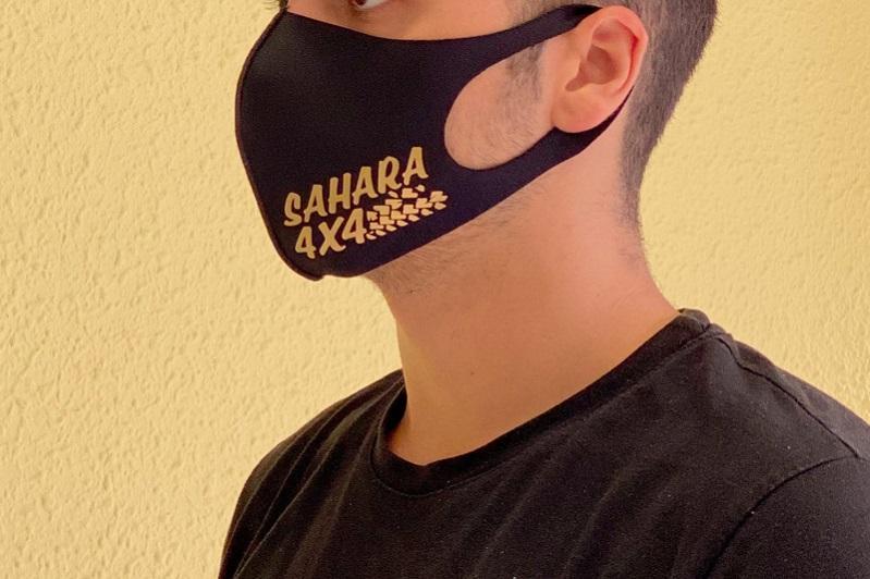 Mascarilla reutilizable con logo sahara4x4