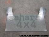 Mesa plana para porton trasero 800 mm x 400 mm Universal - Para atornillas a fondo plano