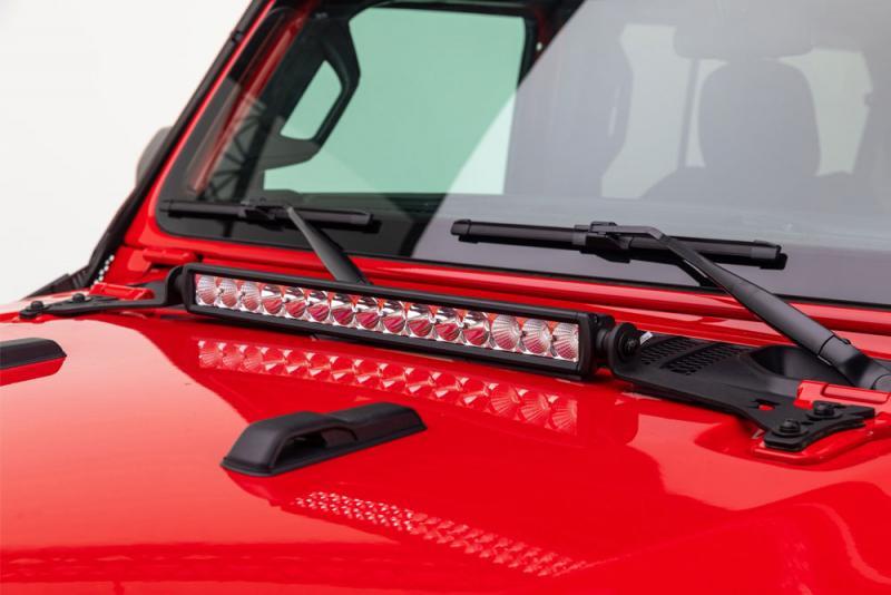 Soportes para barra de LED en capo Jeep Wrangler JL - Selecciona la medida de la barra