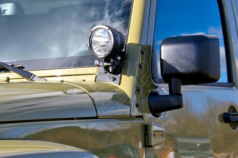 Portafaros marco parabrisas Jeep Wrangler JK