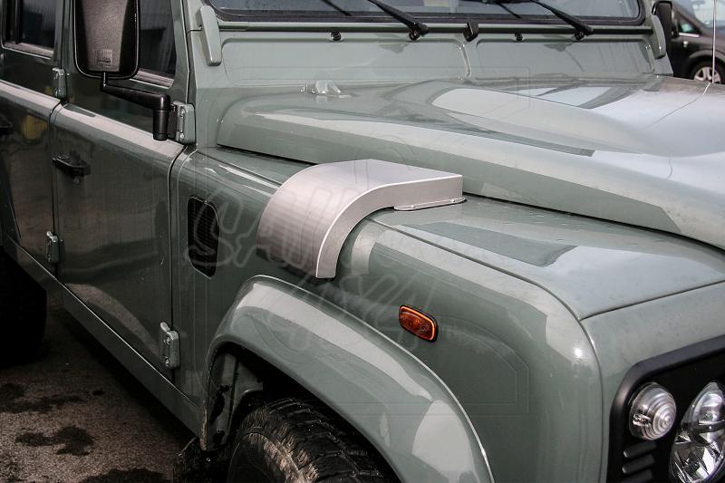 Toma de aire para calefaccion en acero inoxidable - Entrada de aire de la calefaccion del coche, fijacion sobre la rejilla original.