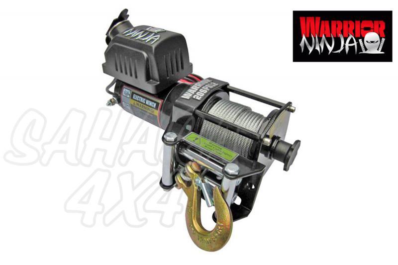 Cabrestante Warrior winches 2000lbs 907Kg 12v - CERTIFICADO CEE Diseñado y testeado en Inglaterra. Recomendado para Quad , ATV