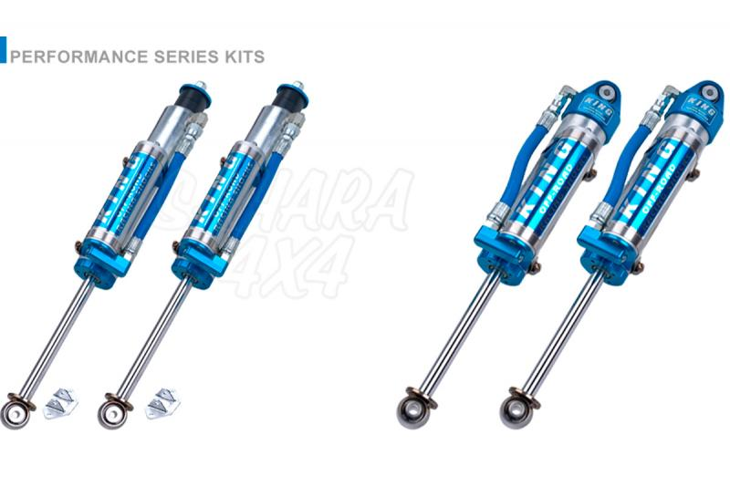 Kit 4 Amortiguadores King 2.5 Botella Separada Nissan Patrol GR Y60 - Amortiguadores OEM Performance.  Delanteros 2.5 con botella separada Traseros 2.5 con botella separada