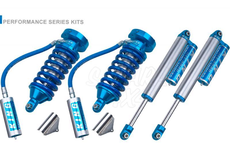 Kit 4 Amortiguadores King 2.5 Botella Separada Navara D-40 - Amortiguadores OEM Performance. Delante 2.5 Coilovers con botella (Incluye muelles delanteros) traseros 2.5 con botella separada