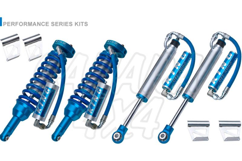 Kit 4 Amortiguadores King 2.5 Botella Separada para Toyota Land cruiser 120/125