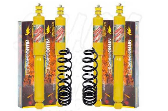 Kit de suspensión OME +4cm para SsangYong Musso  - El Kit consta de 4 Amortiguadores y 2 Muelles.