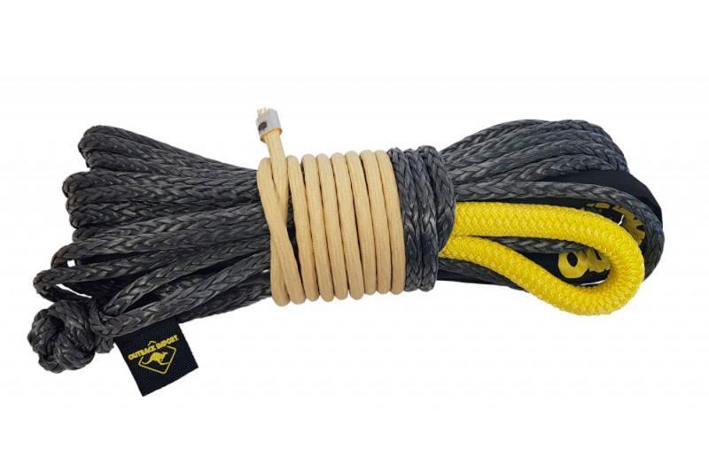 Cable sintético Outback 24 mts x 10mm con grillete sintético