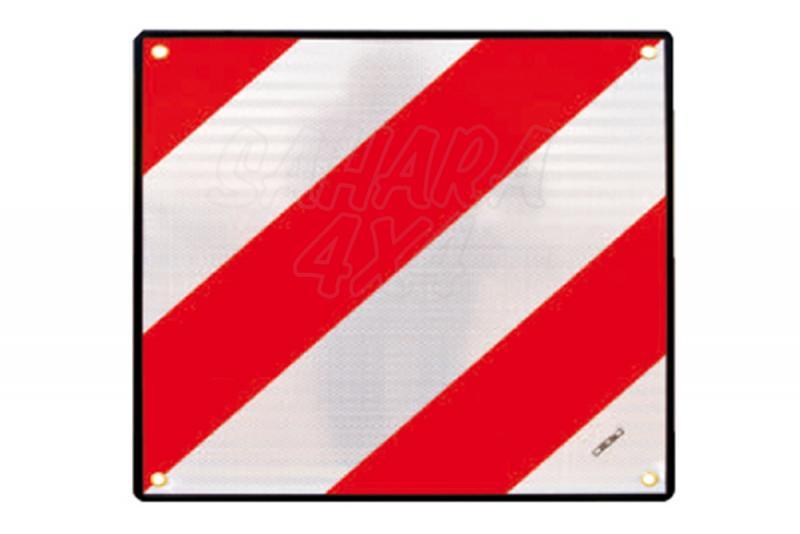 Placa V20 de señalizacion de carga sobresaliente - Necesario para cualquier porta bici o portasky