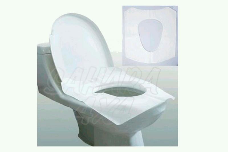 Papel protector higienico para WC.
