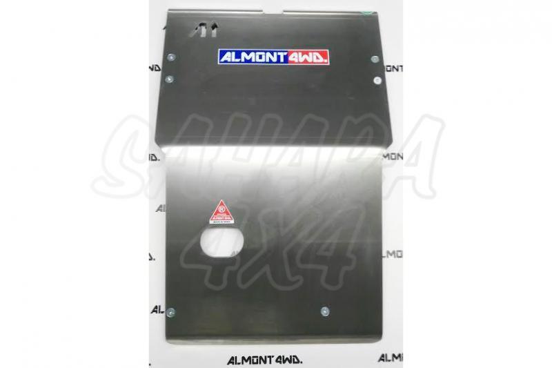 Protectores Almont para Nissan Terrano II (1993-2005) - Duraluminio H111 8 mm