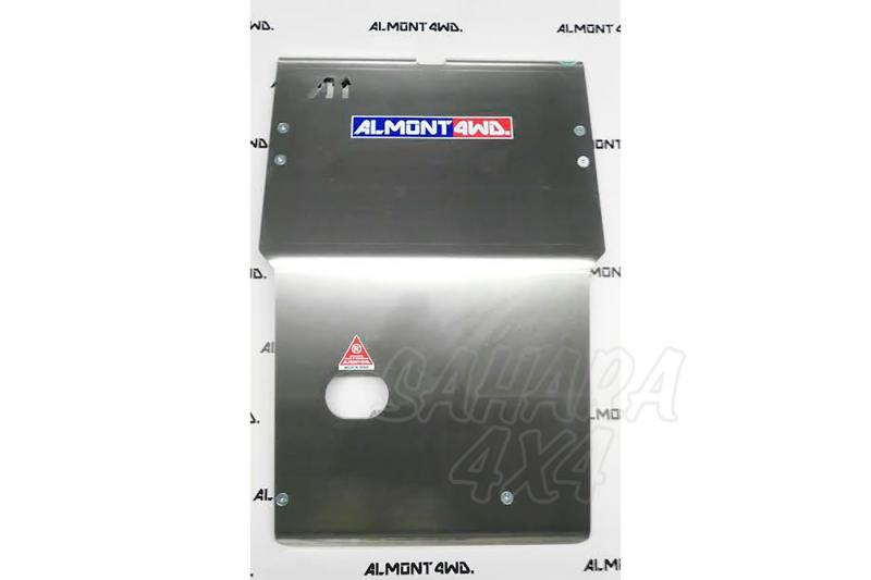 Protectores Almont para Nissan Navara D22 - Duraluminio H111 8mm