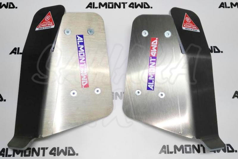 Protector Amortiguador Trasero Almont Nissan Navara D-23 NP300 2016-2017 - Duraluminio H111 6 mm , Precio por pareja
