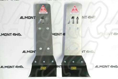 Protector Amortiguador Trasero Almont para Toyota Land Cruiser 90 - Duraluminio H111 6 mm , precio por pareja