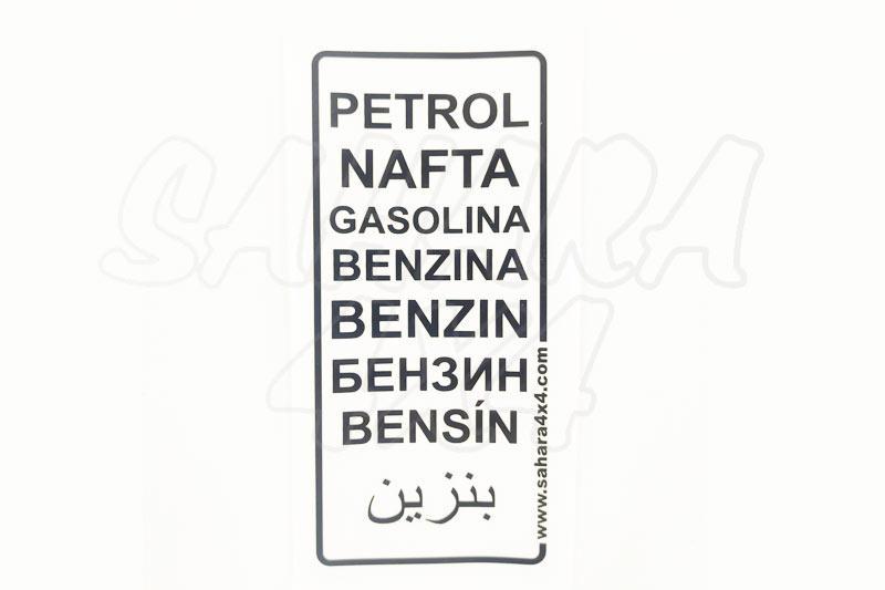 Pegatina de Gasolina