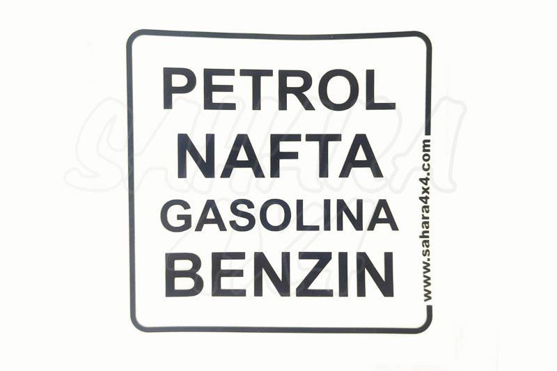 Pegatina de Gasolina Sahara 4x4