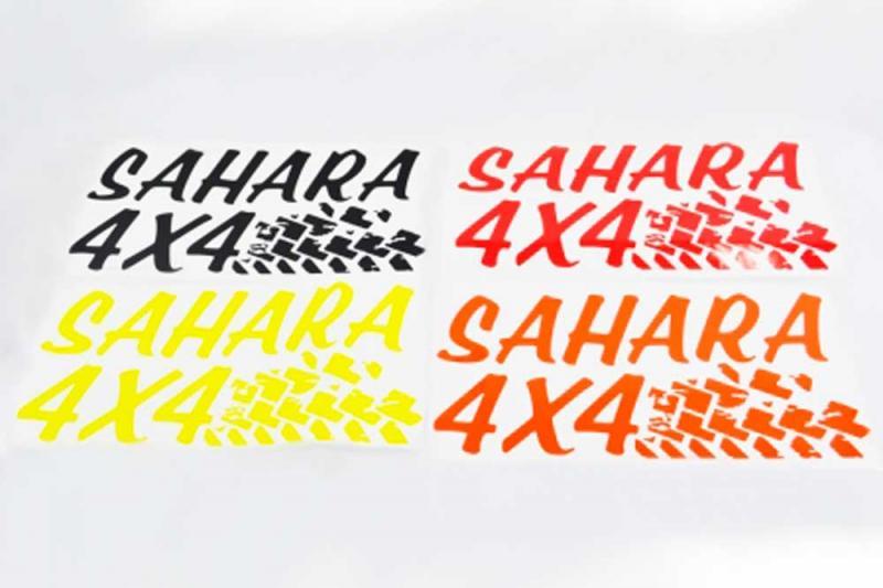 Pegatina troquelada con pisada Sahara 4x4  60 cm